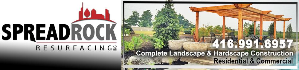 Spread Rock Resurfacing | Decorative concrete | Concrete Resurfacing | Interlocking, Natural Stone and Landscape Design